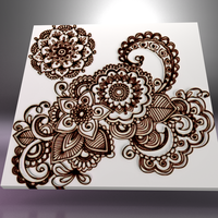 Small Napkin Lace Tile 3D Printing 32879