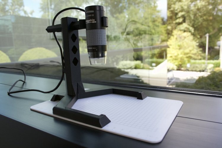 Adjustable Stand for USB Microscope 3D Print 32886