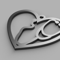 Small Coronavirus Heart Earrings 3D Printing 328896