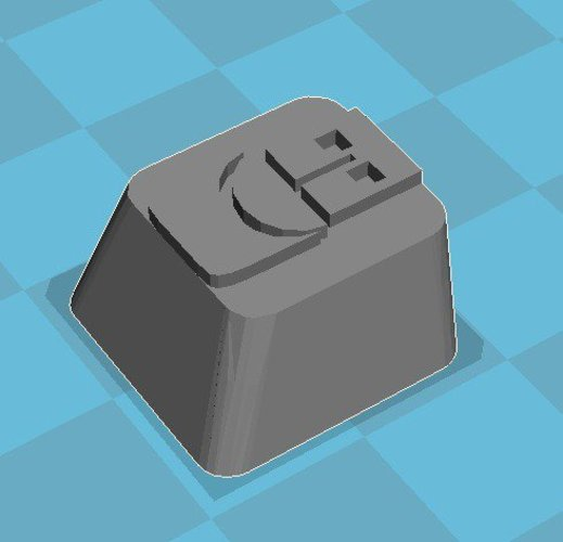Plugable Logo Cherry MX Key Cap 3D Print 32893