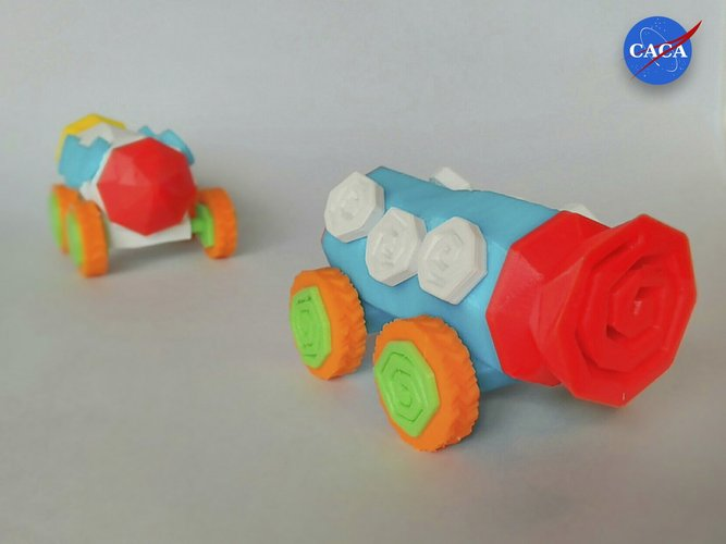 Crazy Rocket with Wheels and a Secret Compartment 3D Print 33071