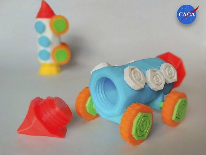 Crazy Rocket with Wheels and a Secret Compartment 3D Print 33072