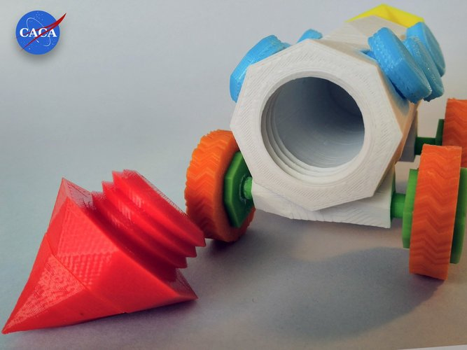 Crazy Rocket with Wheels and a Secret Compartment 3D Print 33073