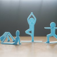 Small Yogi People 3D Printing 33110