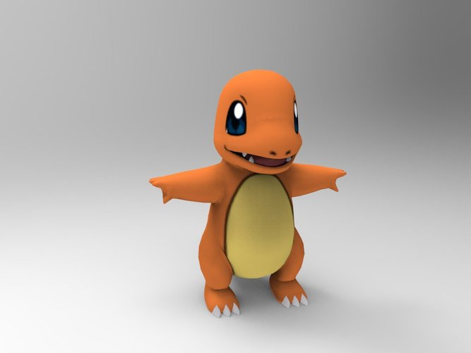 Charmander-Pocket Monsters 3D Print 33236