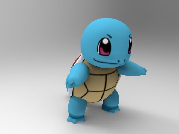 Medium Squirtle-Pocket Monsters 3D Printing 33239