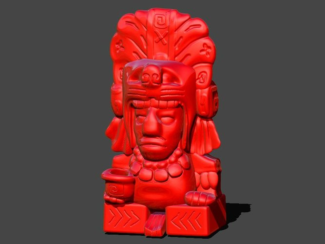 Aztec Pen Holder 3D Print 33259