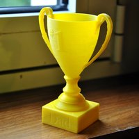 Small Customizable Mini Trophy 3D Printing 33385