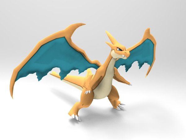 Medium Mega Charizard Y 3D Printing 33389