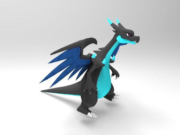 Medium Mega Charizard X 3D Printing 33392