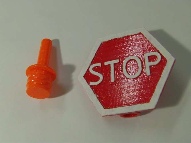 Safety Cone Stop Sign 3D Print 33415