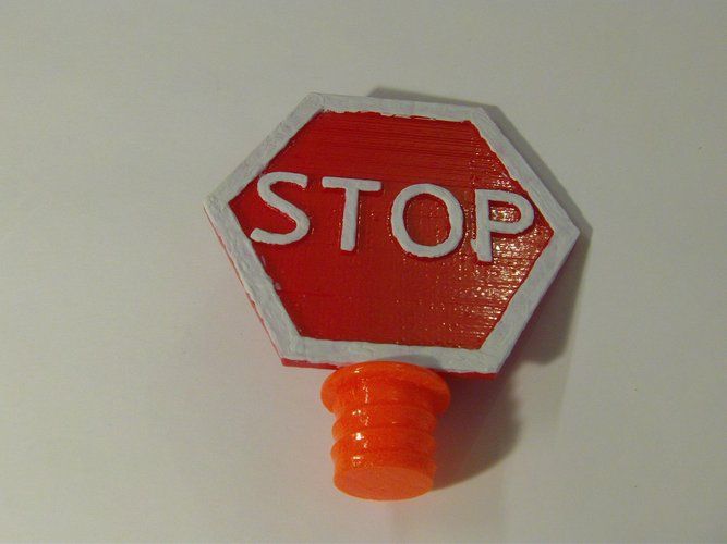 Safety Cone Stop Sign 3D Print 33417