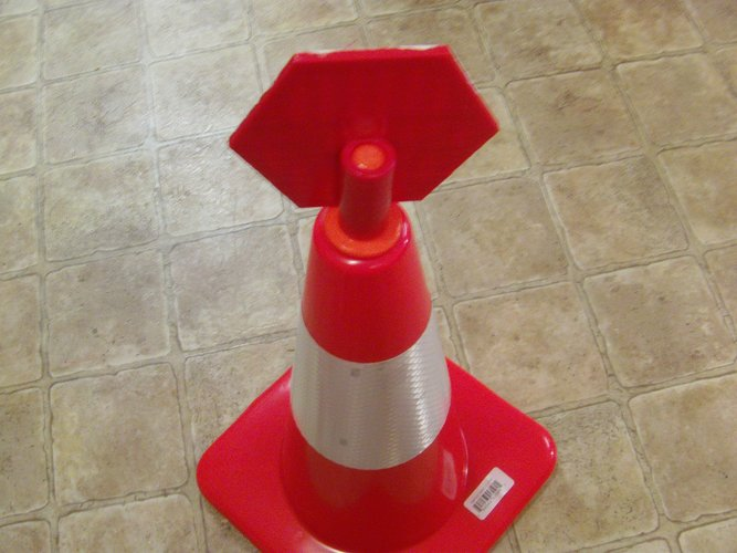 Safety Cone Stop Sign 3D Print 33421