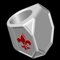 Small scouts neckerchief slide 3D Printing 33522