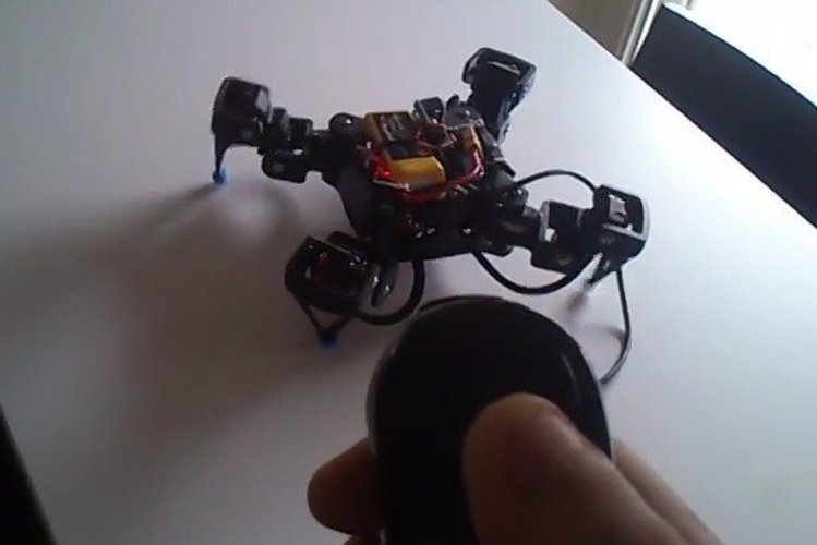 18DOF Hexapod To 12DOF Quadruped modifications 3D Print 33558