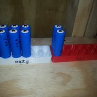 Small Empty 12 Battery Tray 3D Printing 33637