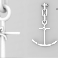 Small Anchor - Coat rack 3D Printing 338