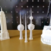 Small Kuwait Towers 3D Printing 33879