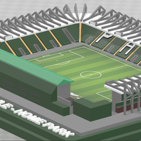 Small Plymouth Argyle - Home Park with Mayflower Stand 3D Printing 339852