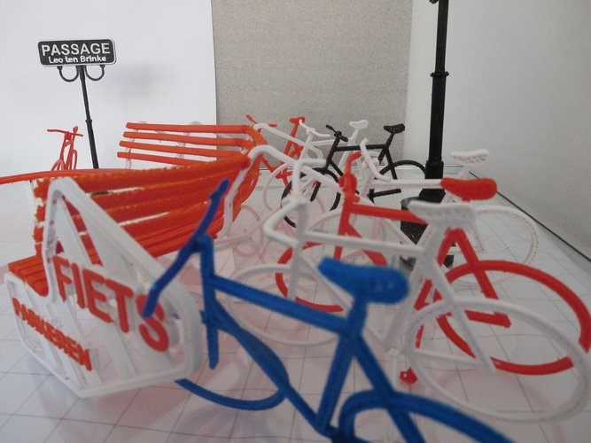 Bike parking and rest. 3D Print 34000