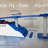 Small Modelstudy Ravijn Fly-Over in Nijverdal 3D Printing 34014