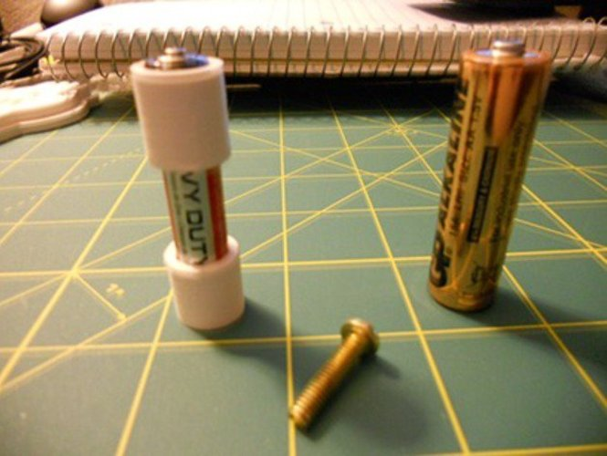 AAA battery to AA Adapter 3D Print 34038
