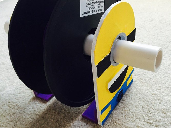 Minion Spool Holder 3D Print 34049