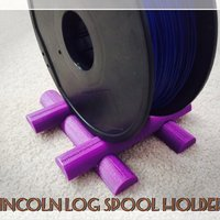 Small Lincoln Log Spool Holder 3D Printing 34055