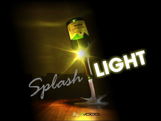 SplashLIGHT | Up-cycle Any Bottle Into a Beautiful Feature Lamp 3D Print 34134