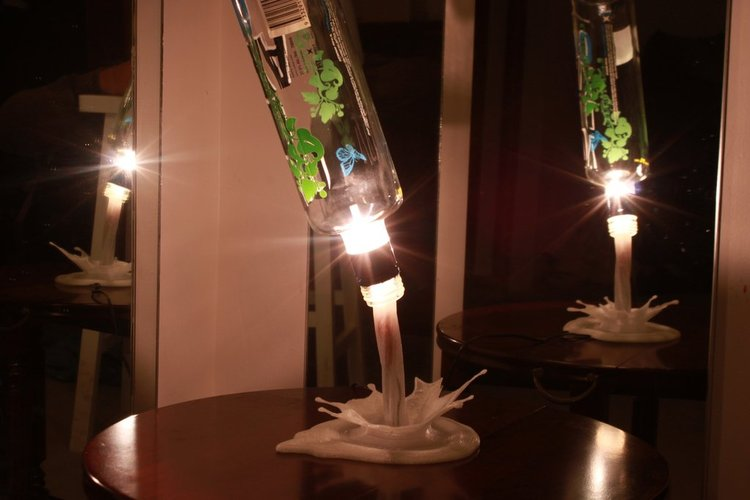 SplashLIGHT | Up-cycle Any Bottle Into a Beautiful Feature Lamp 3D Print 34136