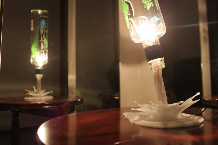 SplashLIGHT | Up-cycle Any Bottle Into a Beautiful Feature Lamp 3D Print 34139