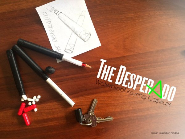 Medium The Desperado | Waterproof Keyring Capsule 3D Printing 34142