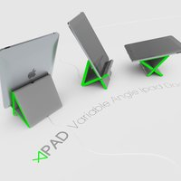 Small Apad | Variable Angle Ipad Dock 3D Printing 34148