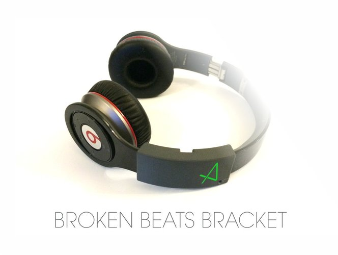 Broken Beats Bracket 3D Print 34152