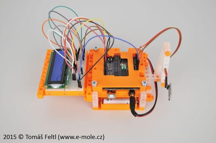 D printed arduino uno r clone sensor shield bitbeam
