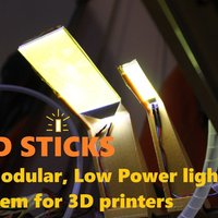 Small LED Sticks: A Modular, Low Power, LED Light System for 3D Printe 3D Printing 34165
