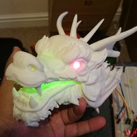 Small Dragon Head - With Glowing eyes and mouth 3D Printing 34381