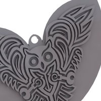 Small Celtic Owl - pendant/Keychain/earring  3D Printing 34403