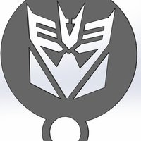 Small coffee stencil - decepticon 3D Printing 34409