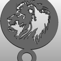 Small coffee Stencil - lion 3D Printing 34411