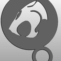 Small coffee Stencil - thundercats logo 3D Printing 34412