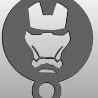 Small coffee Stencil - ironman 3D Printing 34414