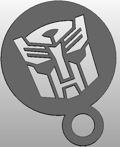 coffee Stencil - Autobot Logo or upside down Darthwader 3D Print 34415