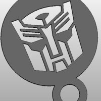 Small coffee Stencil - Autobot Logo or upside down Darthwader 3D Printing 34415