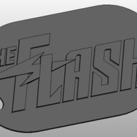 Small The Flash Keychain 3D Printing 34416
