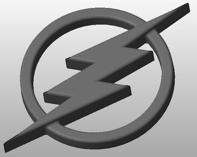 The Flash Logo 3D Print 34417