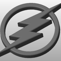 Small The Flash Logo 3D Printing 34417