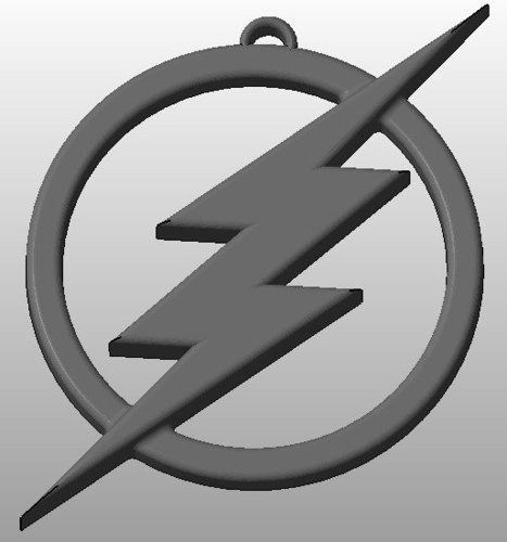 The Flash Logo Keychain 3D Print 34418