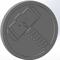 Small Marvel - Thor logo 3D Printing 34429