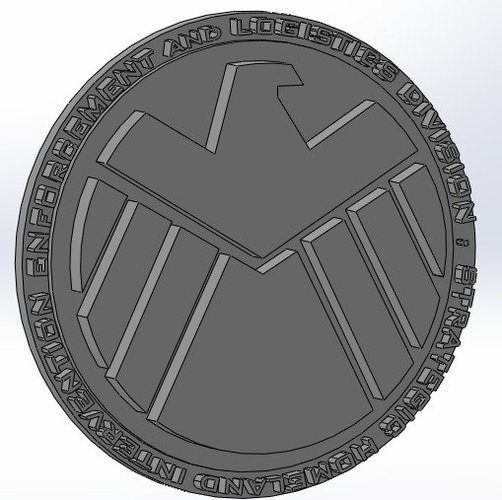 MARVEL - SHIELD 3D Print 34435